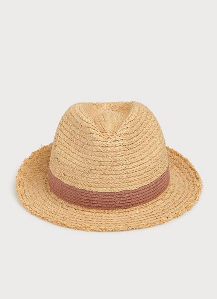 Daisy Straw Fedora Hat