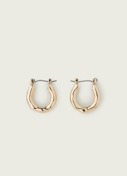 Ella Gold Hammered Hoop Earrings