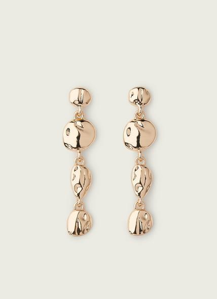 Emma Gold Disc Drop Earrings