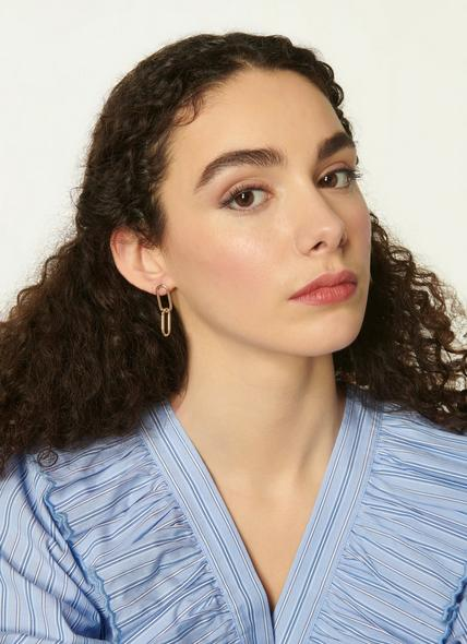 Lily Gold Link Earrings