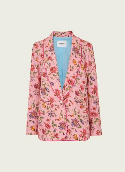 Gabby Pink Romance Floral Print Eco Viscose Jacket