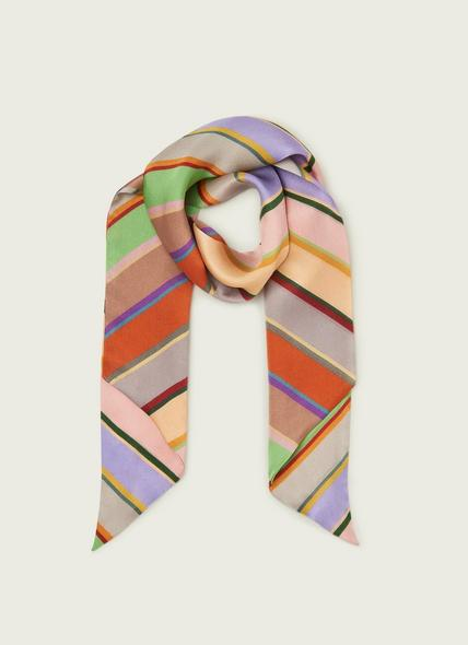 Holzer Multi Stripe Silk Scarf