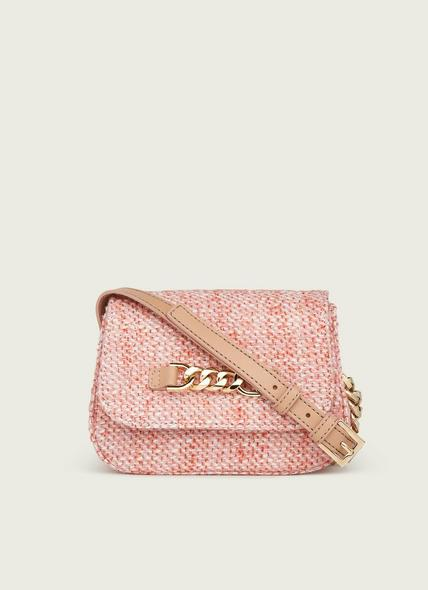 Maizie Pink Tweed Crossbody Bag