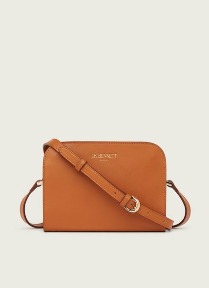 Marie Tan Leather Crossbody Bag
