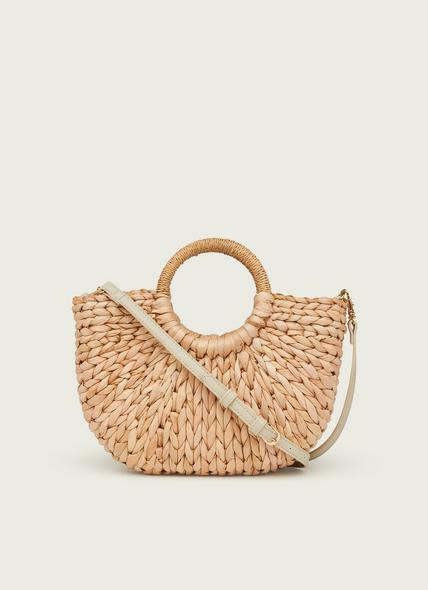 Martha Natural Raffia Crossbody Bag