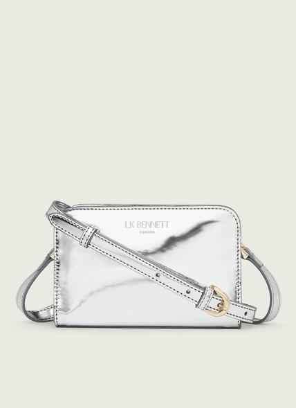 Mini Marie Silver Metallic Shoulder Bag