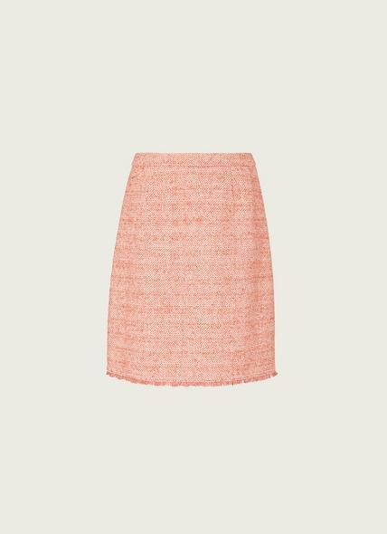 Celeste Pink Tweed Mini Skirt