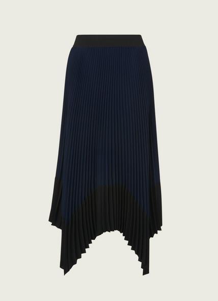 Koller Navy Pleated Skirt