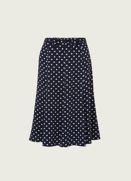 Mathilde Navy Cream Polka Dot Skirt