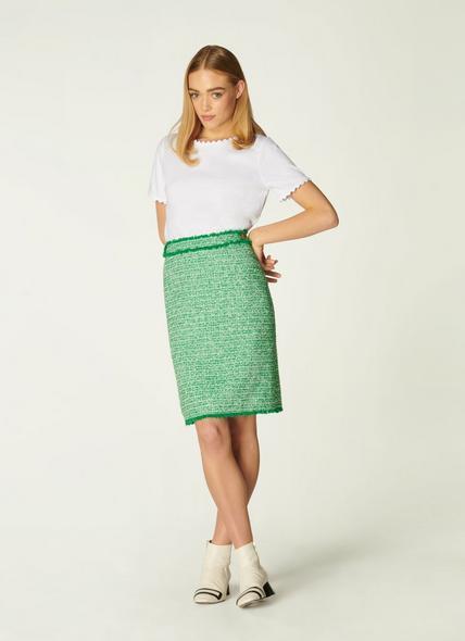 Nicola Green Tweed Mini Skirt