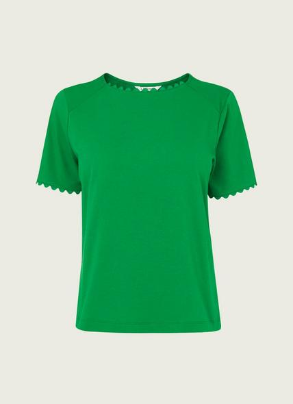 Dee Green Jersey Ric Rac Trim T-Shirt