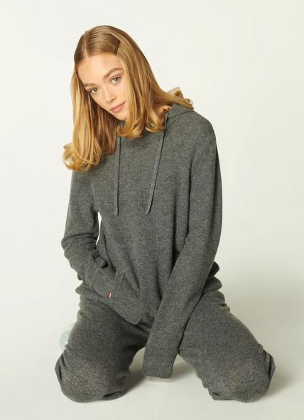 Smith Grey Cashmere Hooded Top