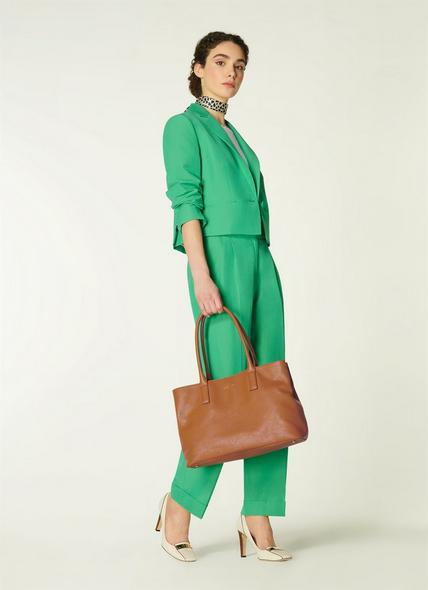Lillian Tan Tumbled Leather Tote Bag