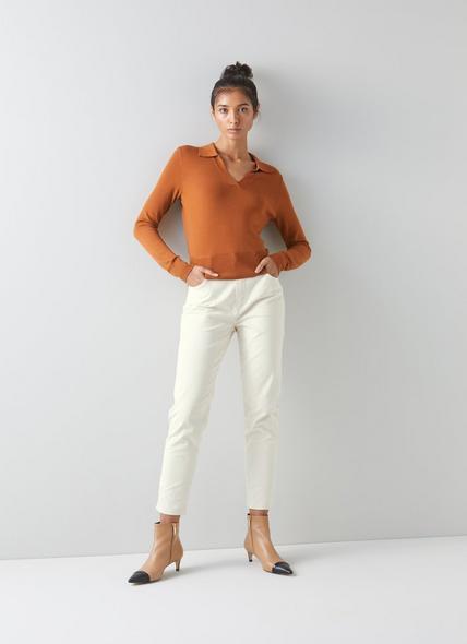 Gracie Cream Organic Cotton Skinny Jeans