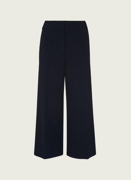Luciana Navy Wide Leg Trousers