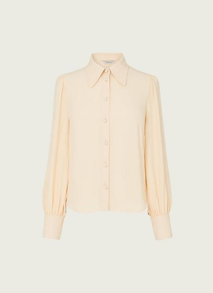 Sonya Cream Crepe Blouse