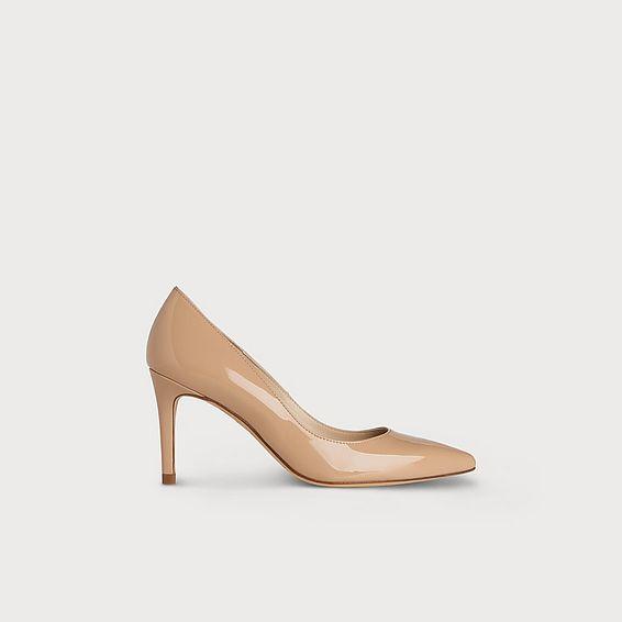 Floret Trench Patent Heels