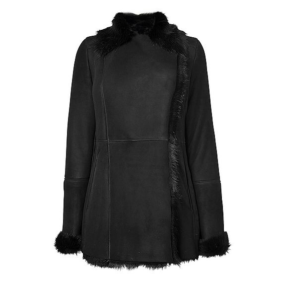 Casper Black Shearling Coat