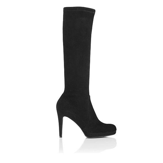 Belle Suede Platform Knee High Boot