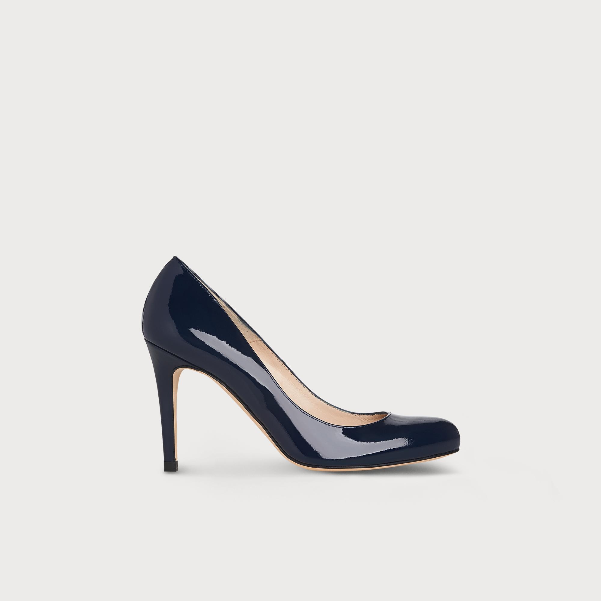 d87ca484eb15 Stila Navy Patent Leather Heel