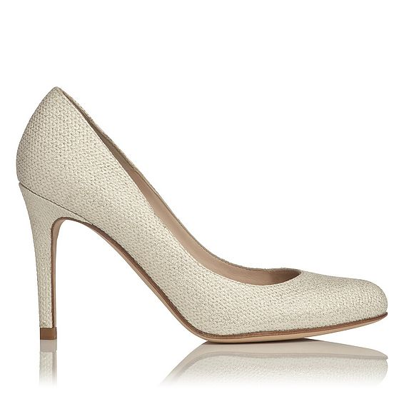Stila Glitter Print Leather Heel