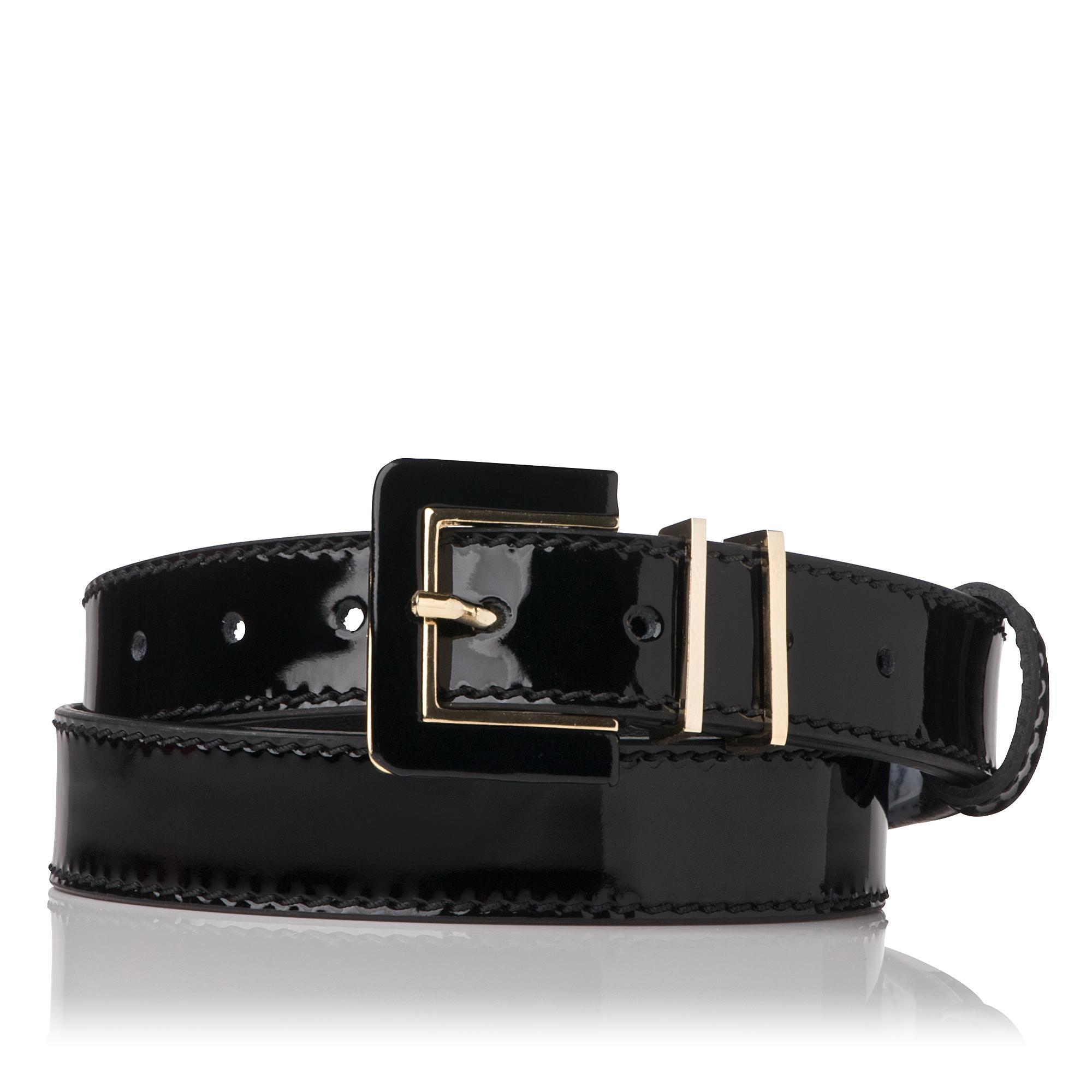 L.K.Bennett Gena Patent Skinny Belt