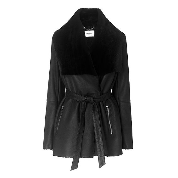 Amberly Black Shearling Coat