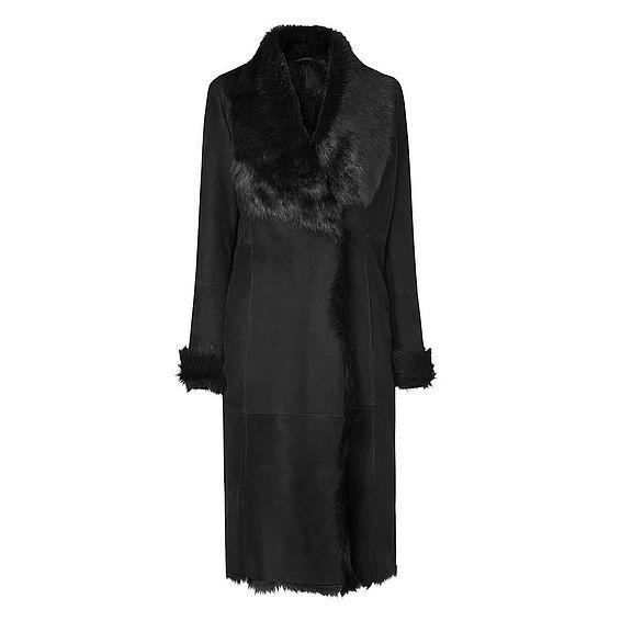 Raphela Black Shearling Coat