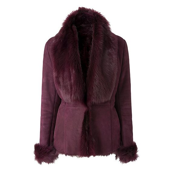 Silvana Red Shearling Coat