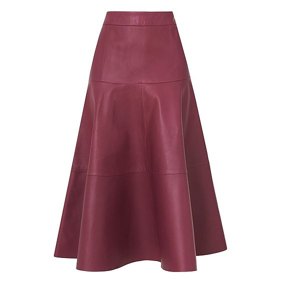 Delfine Leather Skirt