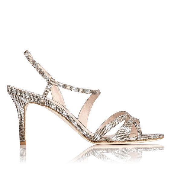 Lourdes Striped Sandal