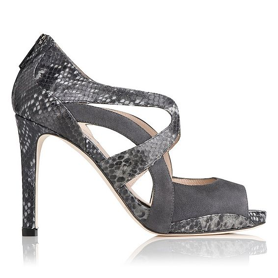 Mabel Suede and Python Effect Sandal