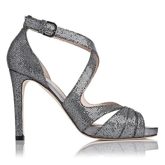 Megan Glitter Suede Platform Sandal