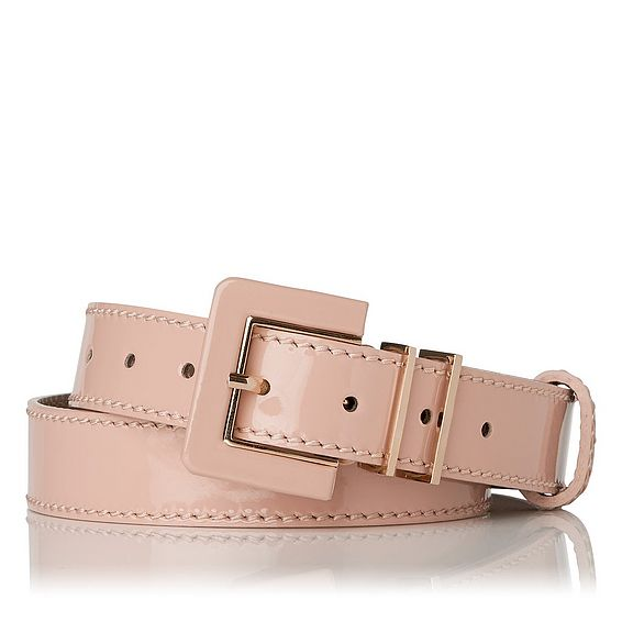 Gena Patent Skinny Belt
