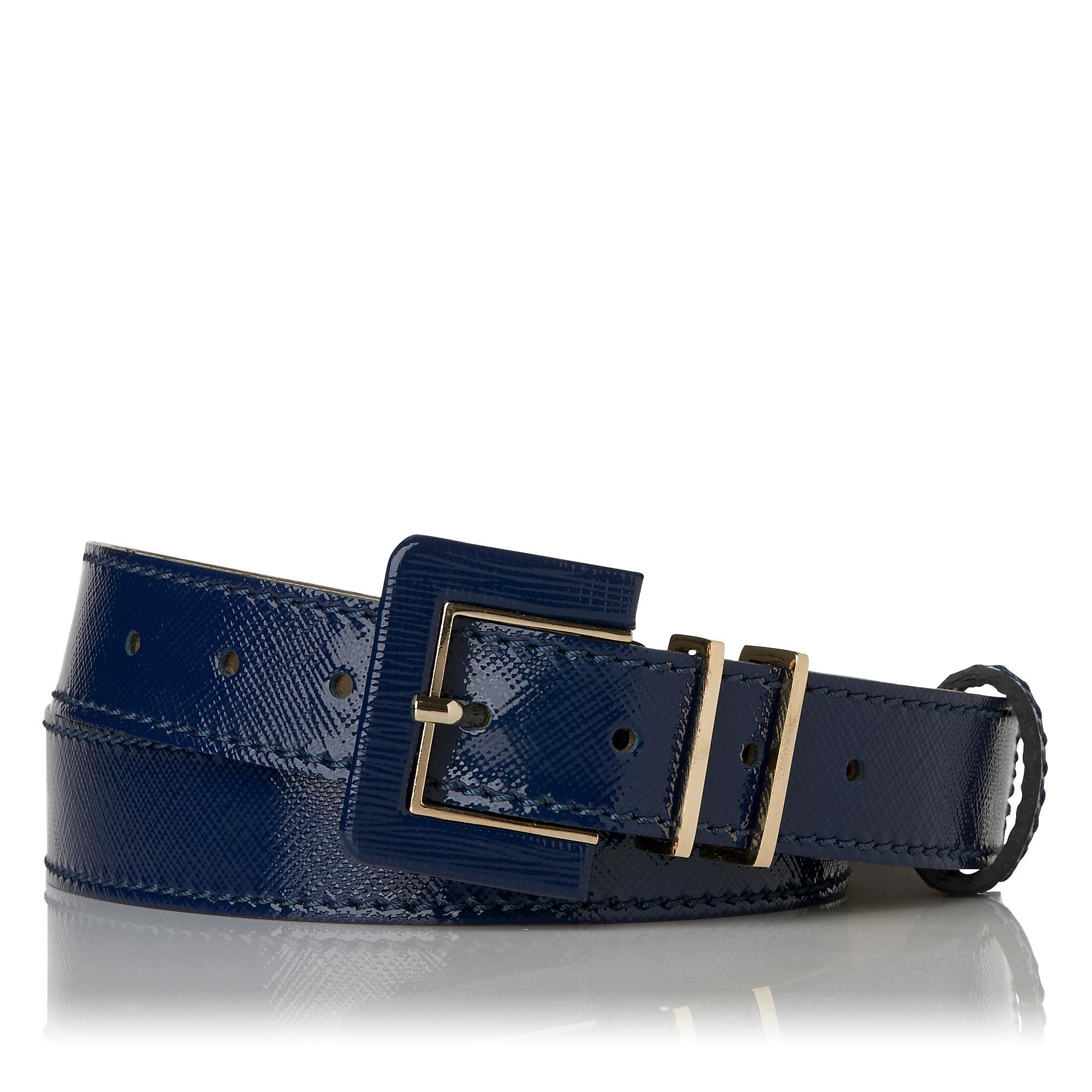 Gena Saffiano Skinny Belt