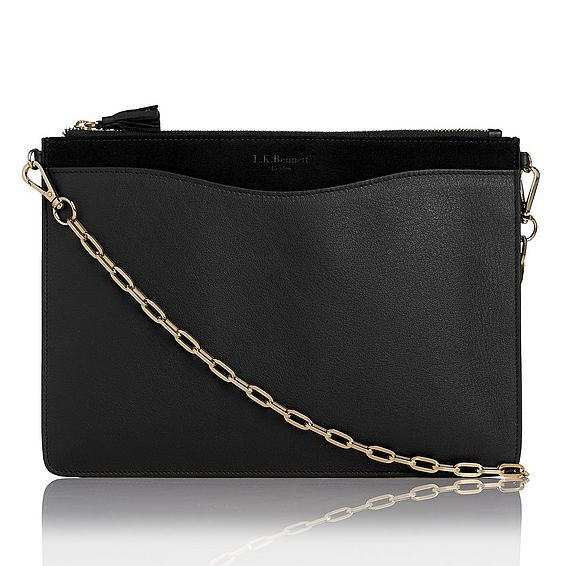 Rachel Black Pouch With Chain Strap