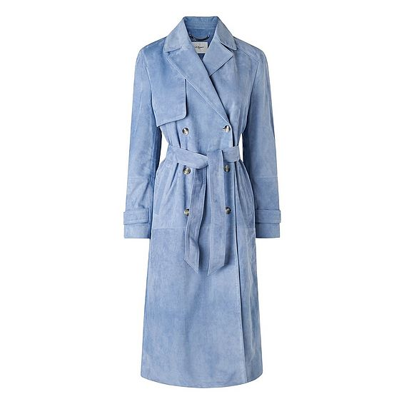 Riley Suede Trench Coat