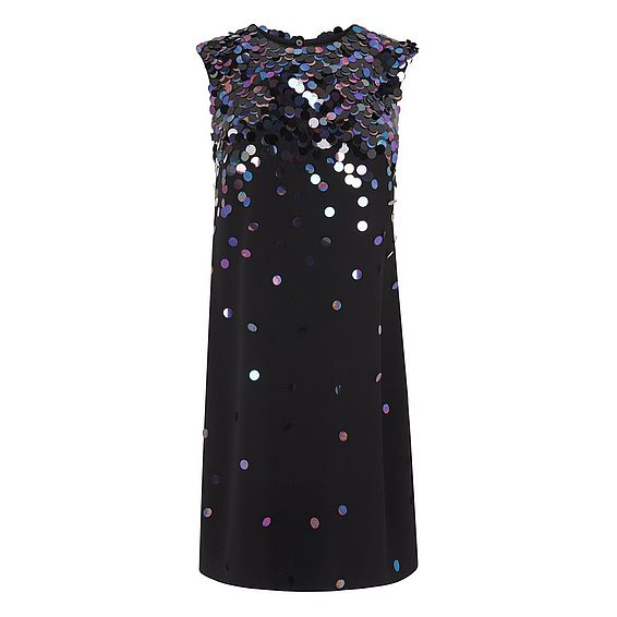 Essa Black Sequin Dress
