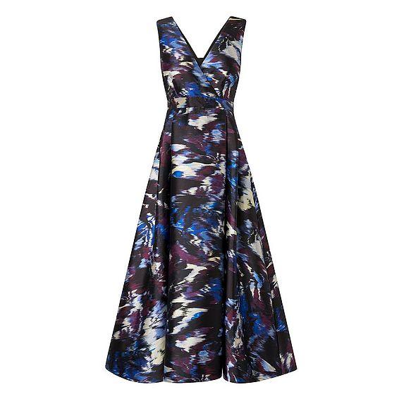 Loena Purple Print Dress
