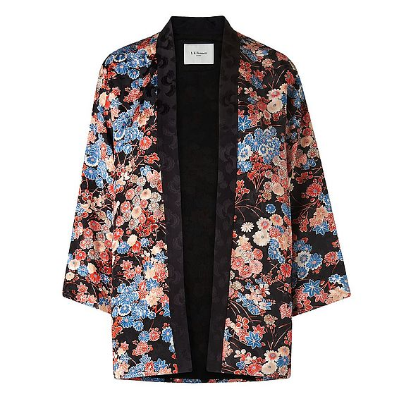 Carrie Flower Print Kimono Jacket