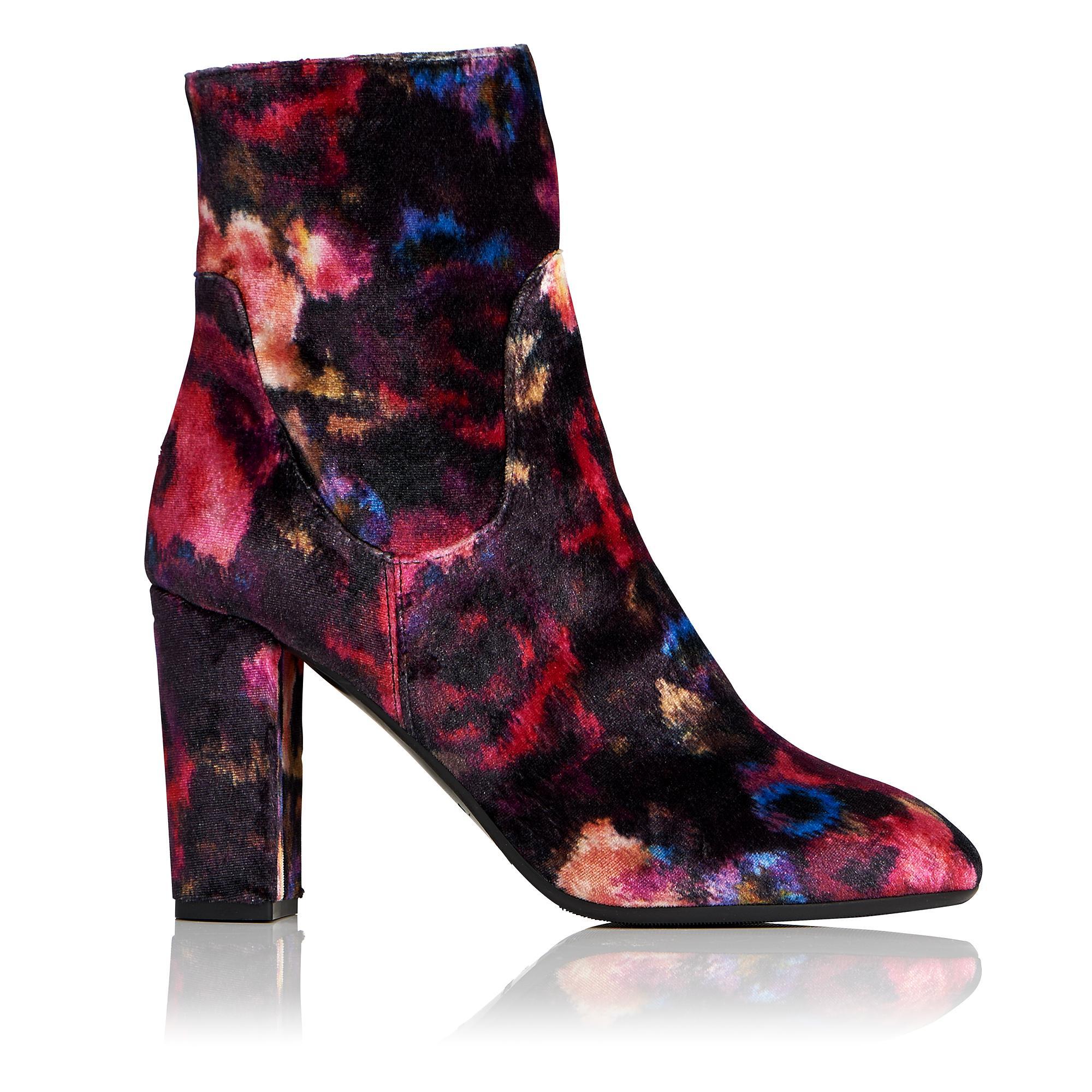 L.K.Bennett Pellino Velvet Ankle Boot