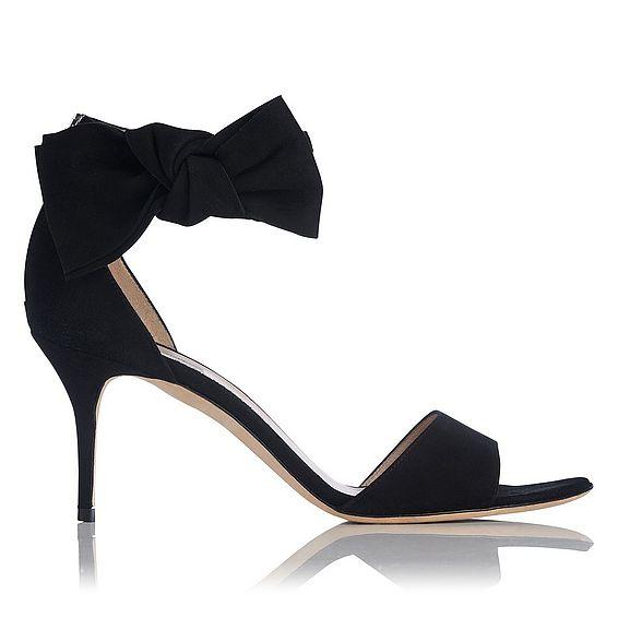 Agata Black Suede Sandal