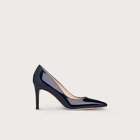 7792abbd78997 Floret Navy Patent Leather Heels
