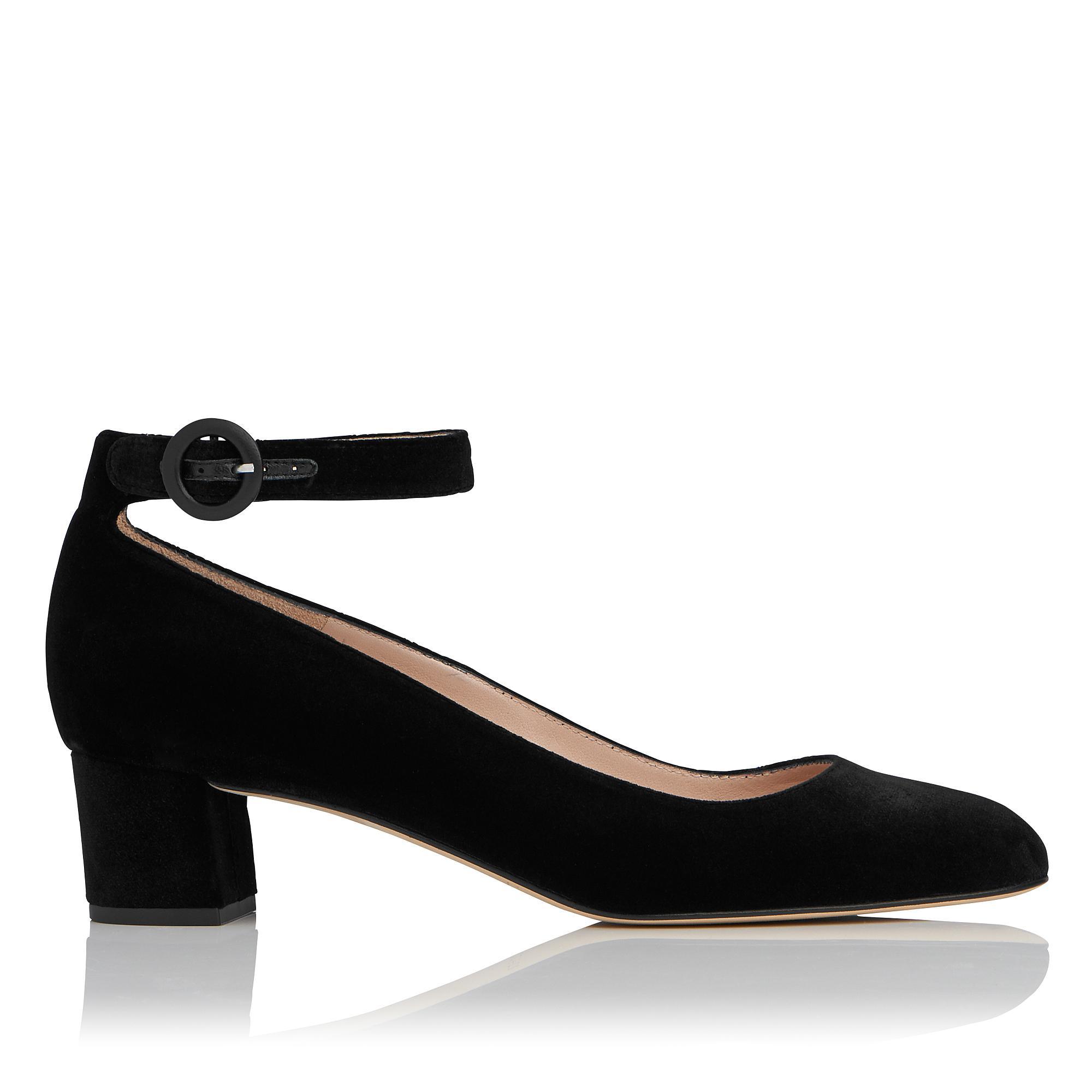 Parka Black Velvet Heel
