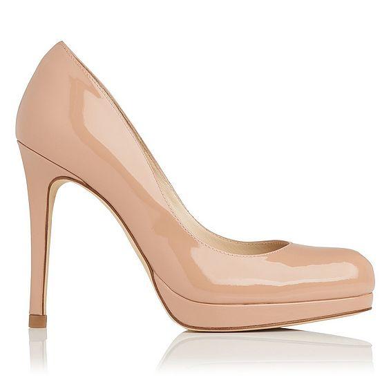 Sledge Patent Leather Heel