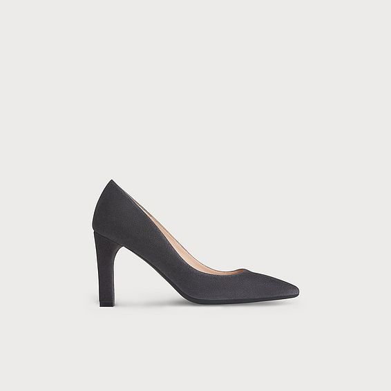 Tess Grey Suede Heel
