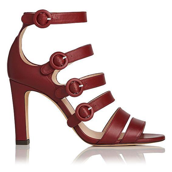 Celeste Red Leather Sandal