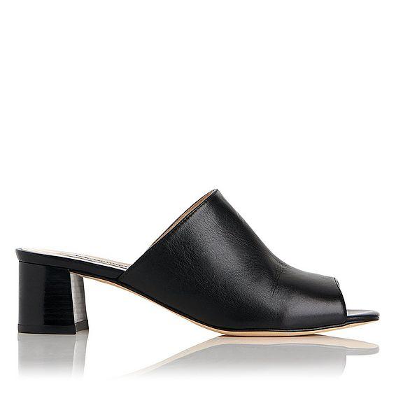 Dana Black Leather Mule