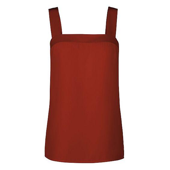 Salli Red Silk Top