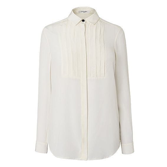 Vivi Silk Tux Shirt